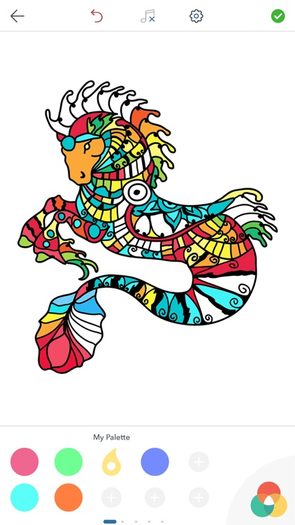 Horse Coloring Book for Adults screenshot-4