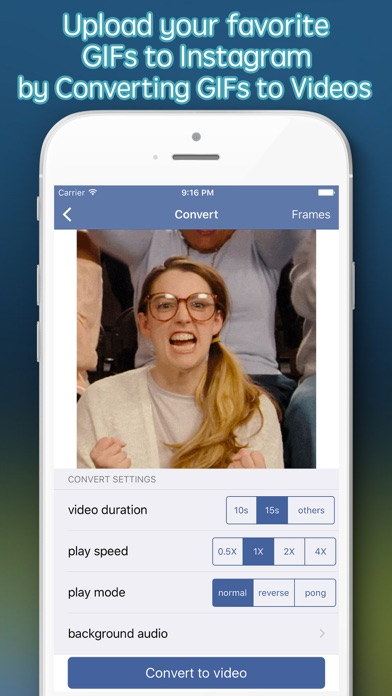 Screenshot #6 for GIF Upload for Instagram - upload your gifs to Ins