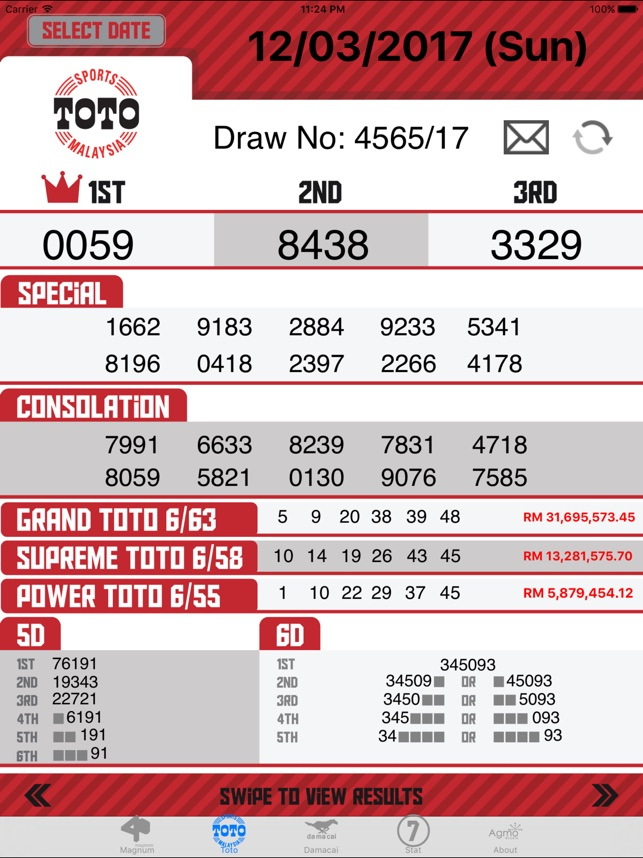 Malaysia 4D results Live on the App Store
