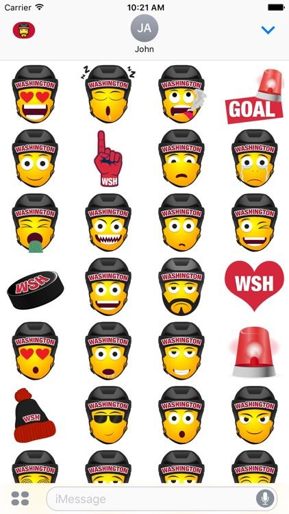Washington Hockey Stickers & Emojis screenshot-3