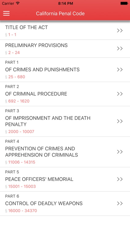 California Penal Code screenshot-0