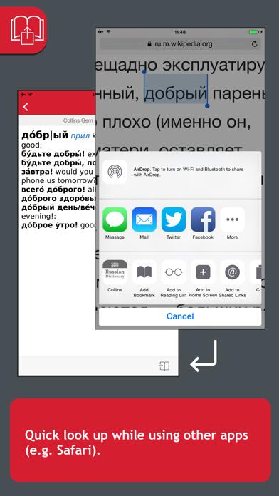 Collins Gem Russian Dictionaryのおすすめ画像3