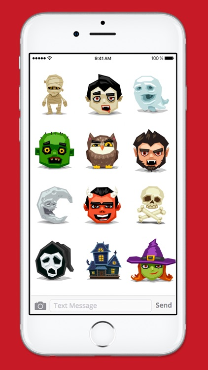 Cute and Scary Halloween Sticker Pack screenshot-4