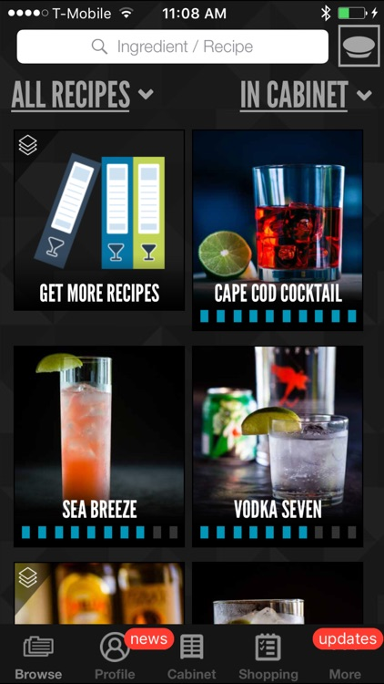 Perfect Drink: Interactive cocktail recipe app