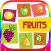 子供のためのabcのアルファベットのフルーツ - 植物トレースのフラッシュカード