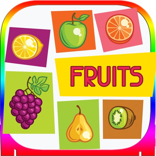 ABC Alphabet Fruit-Veget Trace Flashcards for Kids