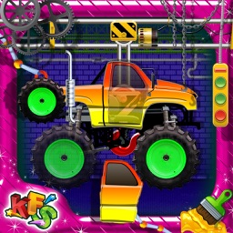 Monster Truck Factory- Crazy Mechanics Garage