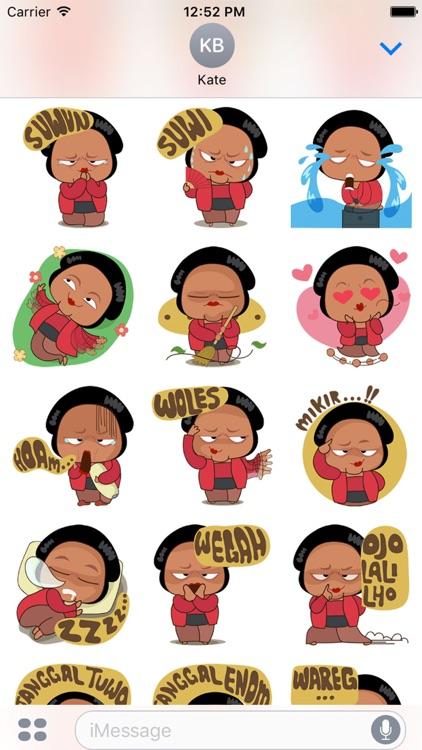 Mrs Ayu for iMessage Sticker