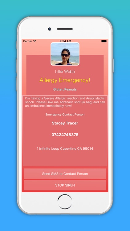 Allergency: Food Allergy Alert, Anaphylaxis & SMS