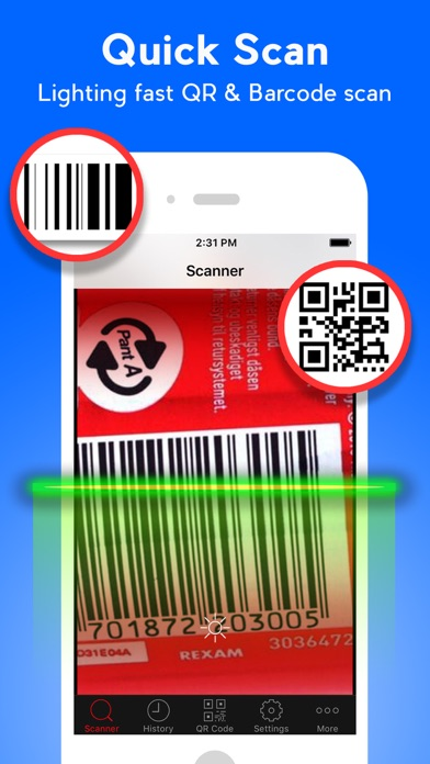 QR Code Scanner  - QR Reader & Barcode Scanner Screenshot on iOS