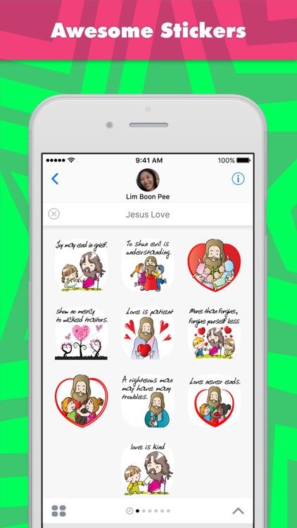 Jesus Love stickers by wenpei