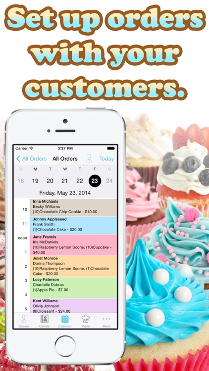 Bakery Order Manager - Organize staff and clients