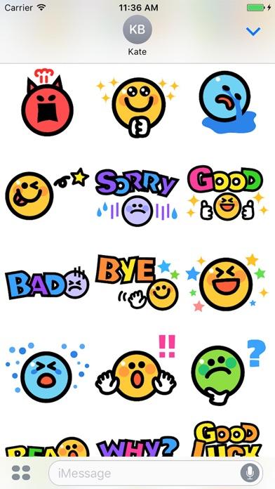 Smiley face Sticker 1のスクリーンショット3