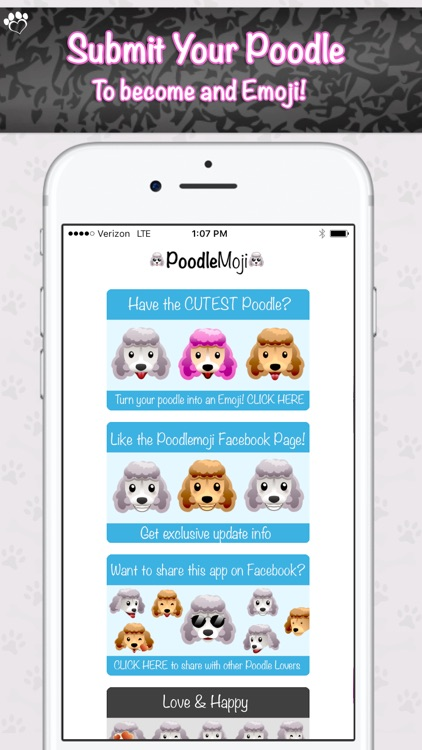 PoodleMoji - Poodle Lovers Emojis and Stickers screenshot-4