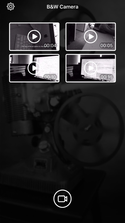 B&W Camera - Vintage Fliter&Retro Effect Video Cam