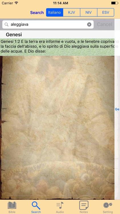 Italian-English Holy Bible Audio Book screenshot-4