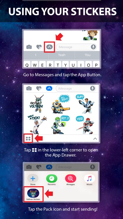 Voltron Stickers screenshot-0