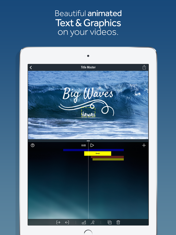 Title Master - Animated text and graphics on video | App Price Drops