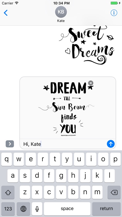 Good Night Typography Stickers for iMessage screenshot-3