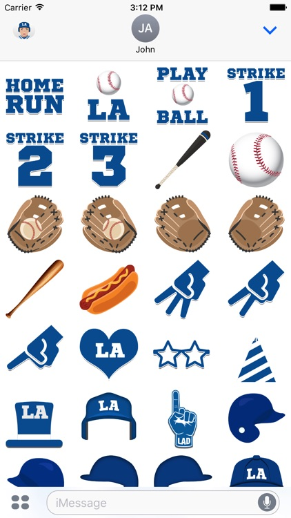 Los Angeles D Baseball Stickers & Emojis screenshot-3