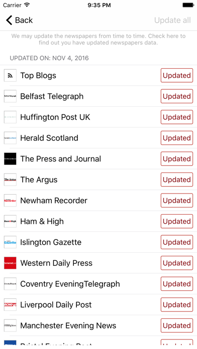 Uk Newspapers Plus - Daily News From The UK screenshot four