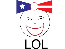 LOL - laughing out loud around the world stickers