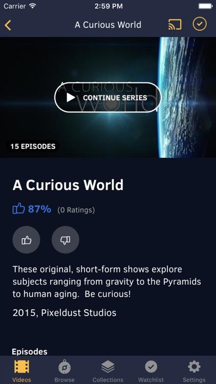 CuriosityStream app image