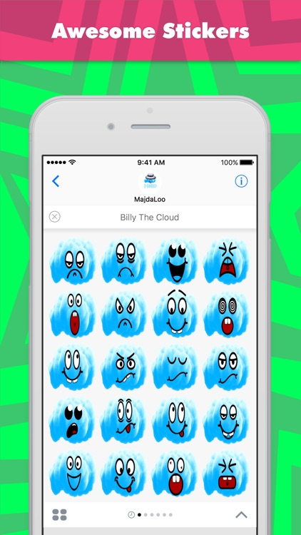 Billy The Cloud stickers by MajdaLoo