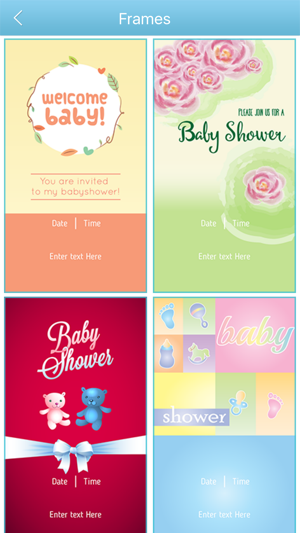 Baby shower invitation cards maker hd on the app store baby shower invitation cards maker hd on the app store filmwisefo