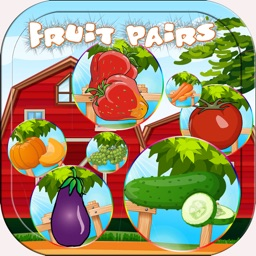 Fruit And Vegetable Matching - Pairs Game for Kids