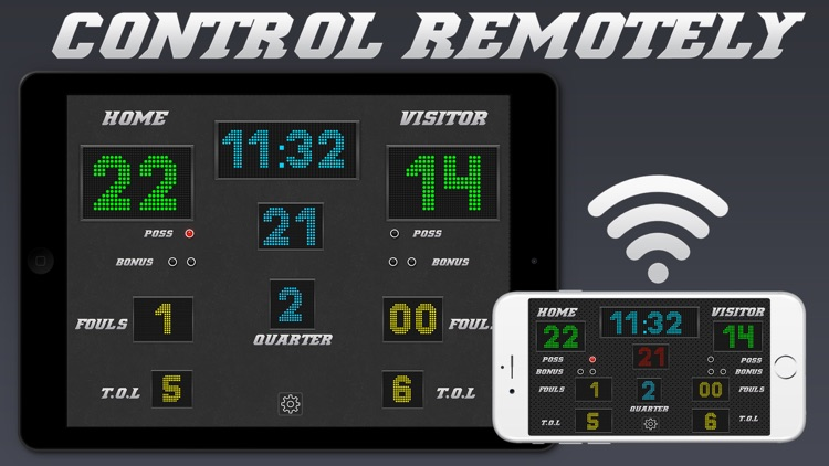 Basketball Scoreboard - Remote Scorekeeping