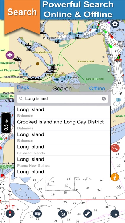 New York boating offline nautical fishing charts