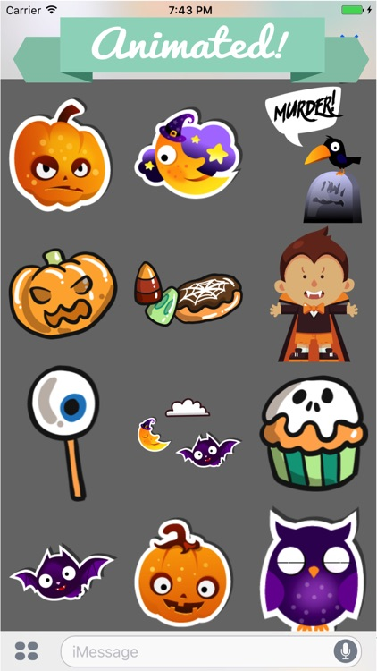 Halloween Animated Stickers Pack