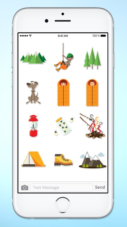 Camping Hiking and Climbing Fun Sticker Pack