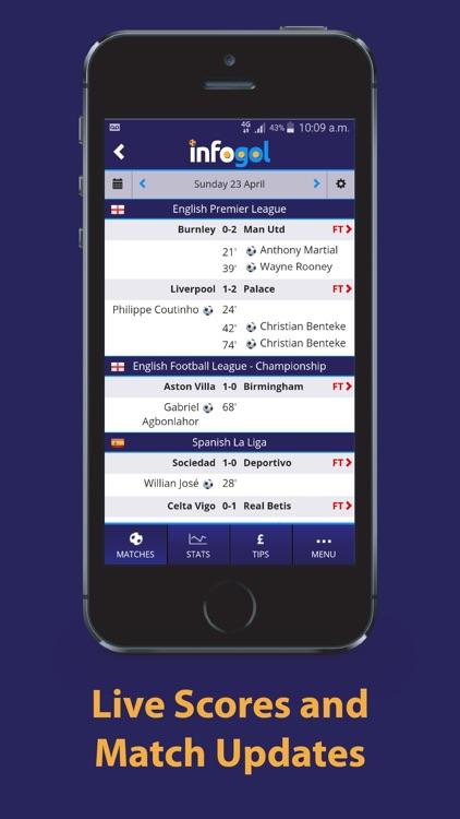 Infogol - Live Football Scores, Fixtures & Results screenshot-3