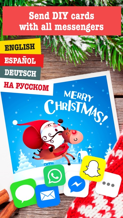screenshot 2 for merry christmas card maker free greeting cards