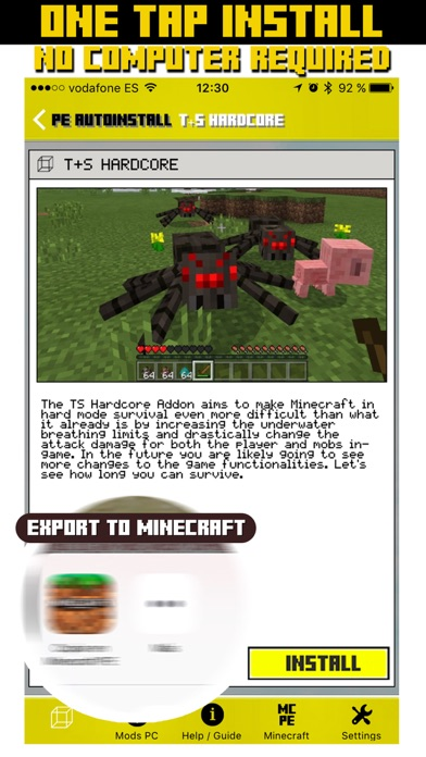 Mods for Pc & Addons for Minecraft Pocket Edition by