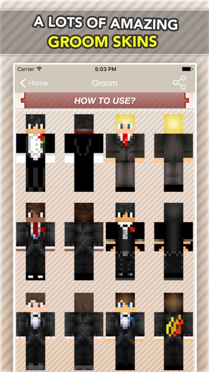Wedding, Bride and Groom Skins For Minecraft PE screenshot-1