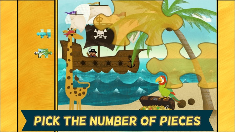 Pirate Preschool Puzzle - Toddler Games Complete