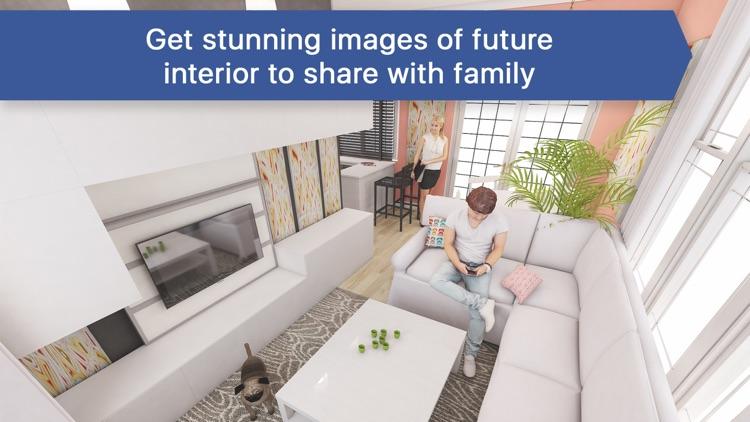 3D Living Room for IKEA: Interior Design Planner