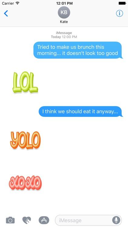 TextSpeak Stickers by Mojiberry