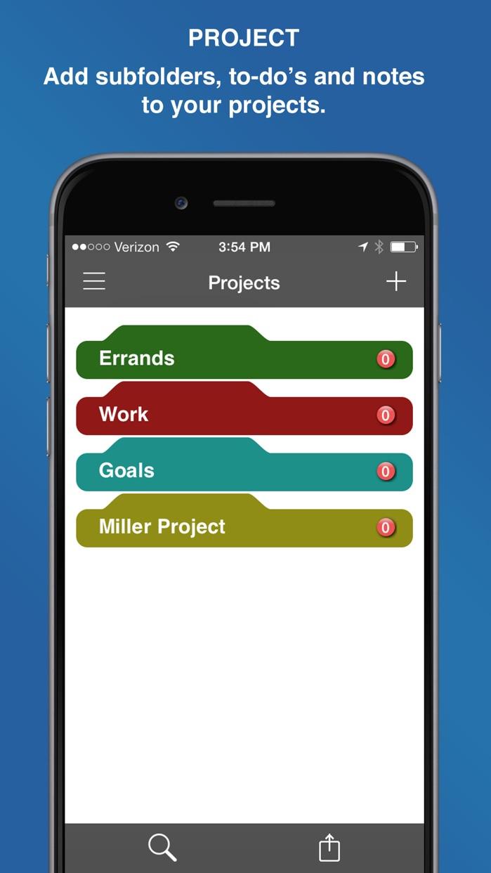 InFocus Pro - All-in-One Organizer Screenshot