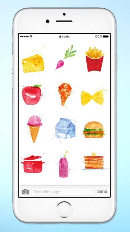 Whats For Dinner? Watercolor Food Sticker Pack screenshot-3