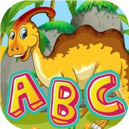 A-Z Dinosaur Alphabet Trace Flashcards for Toddler