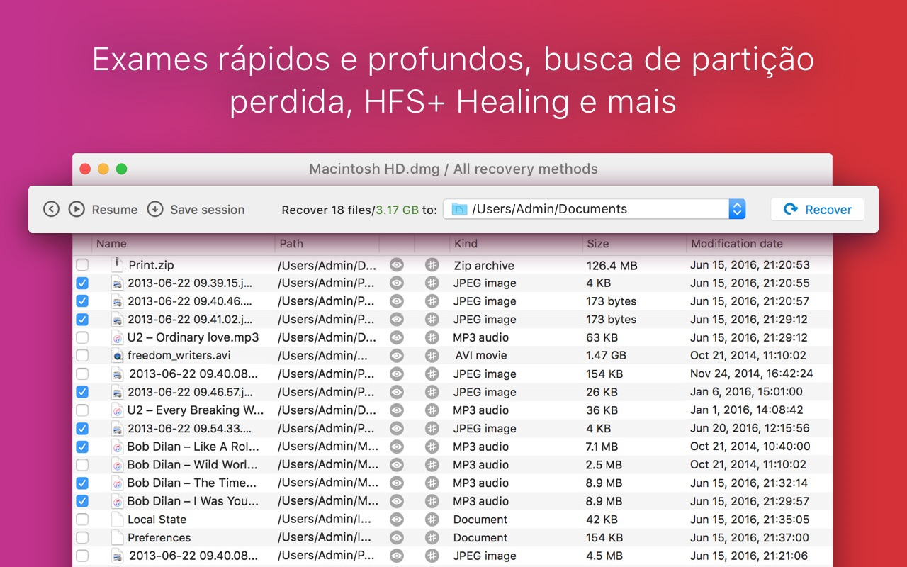 Screenshot do app Disk Drill Media Recovery