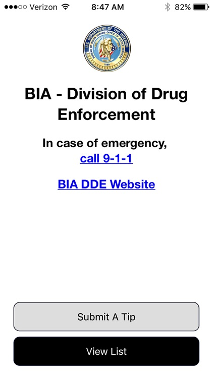 BIA Tips by Bureau of Indian Affairs  Office of Justice Service