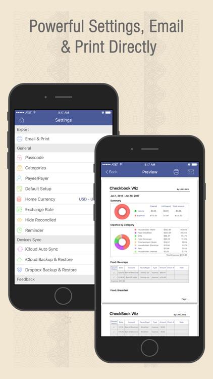 Checkbook Wiz Pro- Track Expense, Income & Account screenshot-4