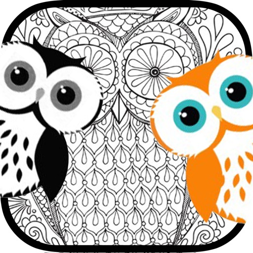 stress relieving coloring pages owls - photo#17