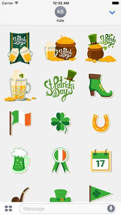 St patricks day greetings for imessage stickers by tecsoftapps st patricks day greetings for imessage stickers m4hsunfo