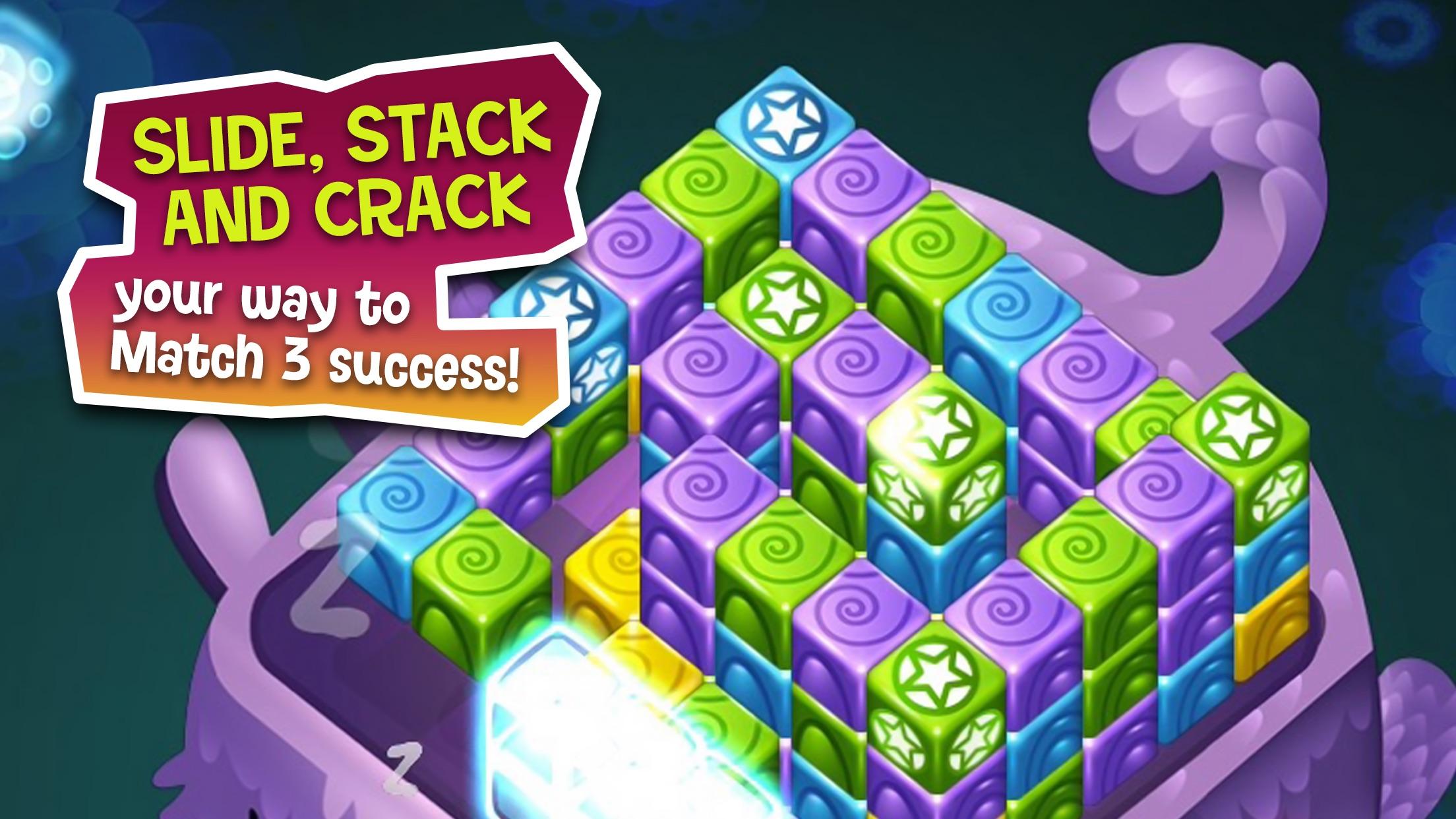 Cubis Creatures: Match 3 Games Screenshot